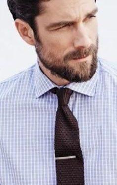 καρό γαλάζιο πουκάμισο καφέ γραβάτα