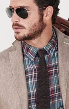 καρό πουκάμισο καφέ γραβάτα