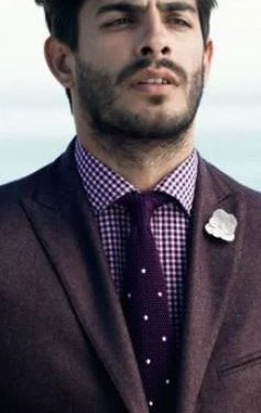 καρό πουκάμισο πουά γραβάτα
