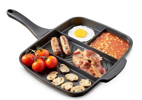 τηγάνι με πολλαπλές θέσεις μαγειρέματος