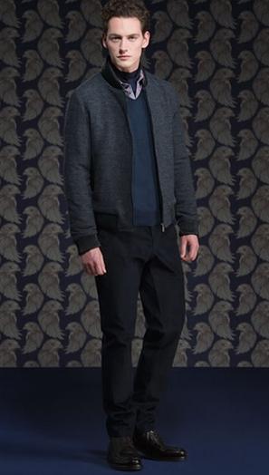 μπλε ζιβαγκο με πουλόβερ μπλε