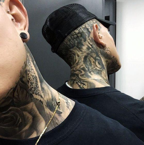 full neck ανδρικό τατουάζ