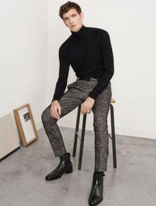 μαύρο ζιβάγκο καρό παντελόνι μποτάκι