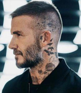 τατουάζ στον λαιμό και στο κεφάλι