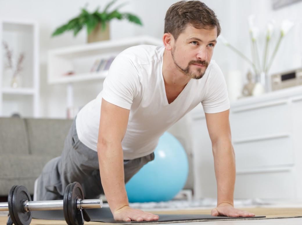 εκμεταλλεύσου το χρόνο στο σπίτι με γυμναστική
