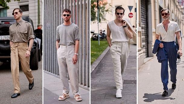 ψηλόμεσα ανδρικά παντελόνια καλοκαιρινά outfits