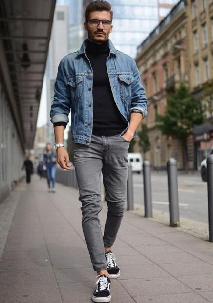 jean jacket ζιβάγκο μπλούζα γκρι τζιν