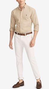 άσπρο αντρικό παντελόνι