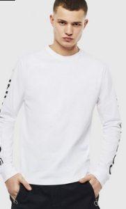 ασπρομαυρη μπλουζα μακριμανικη