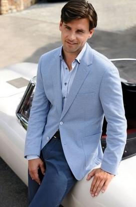 γαλαζιο ανδρικο σακακι μπλε παντελονι