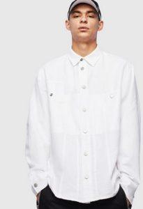 ασπρο με γιακα πουκαμισο ανδρικο
