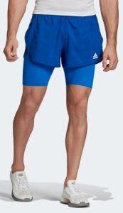μπλε κοντό σορτσάκι για τρέξιμο ανδρικό