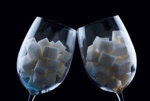 ποτήρι κύβοι ζάχαρης