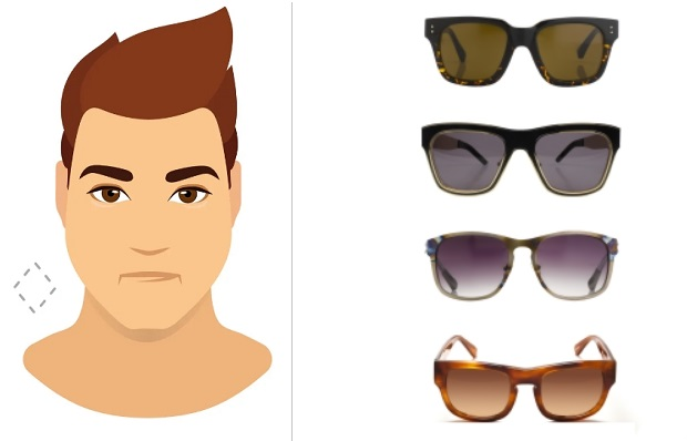 ανδρικά γυαλιά ηλίου ανάλογα με το πρόσωπο