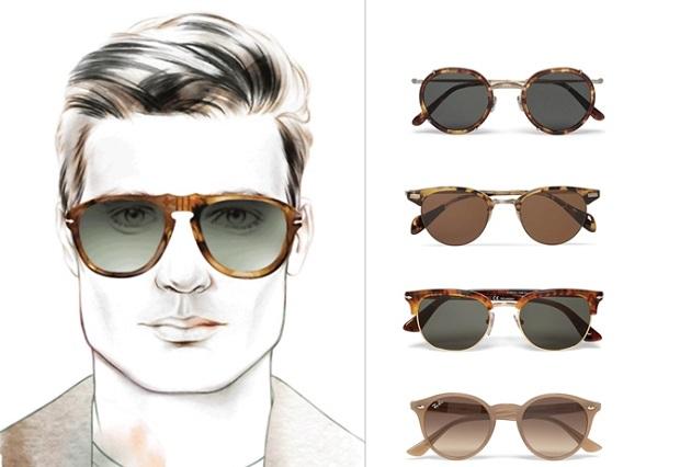γυαλιά ηλίου πρόσωπο με γωνίες