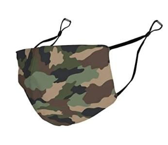μάσκα προσώπου με στρατιωτικό εφέ για τον κορωνοϊό