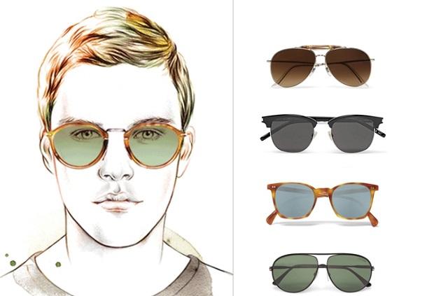 οβάλ πρόσωπο ανδρικά γυαλιά ηλίου