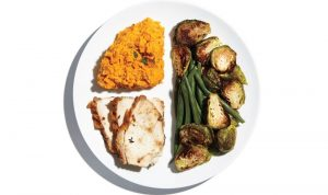πιάτο κοτόπουλο πουρές λαχανικά