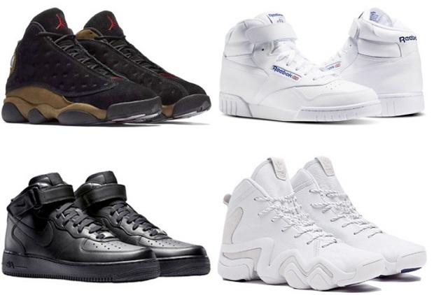 ρετρό αθλητικά παπούτσια του μπάσκετ
