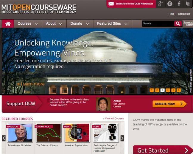 MIT site με μαθηματα δωρεαν