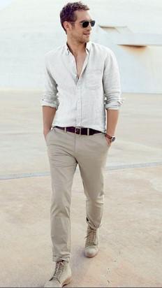 λινο λευκο πουκαμισο ζαχαρι παντελονι