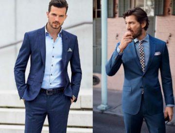 μπλε αντρικά κουστούμια