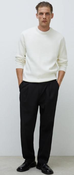 άσπρη πλεκτή μπλούζα zara 2021