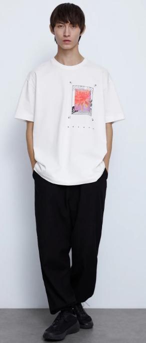 φαρδιά αντρική μπλούζα με λογότυπο