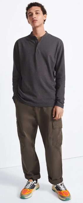 polo μπλούζα με γιακά mao