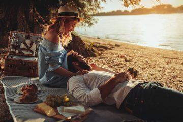 ρομαντικό ραντεβού πικνίκ