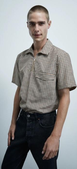 ανδρικό πουκάμισο polo με φερμουάρ