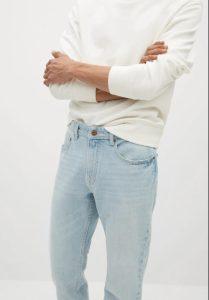 ανοιχτό αντρικό τζιν παντελόνι