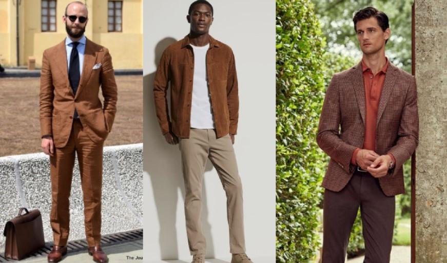 αντρικά ντυσίματα σε καφέ χρώμα