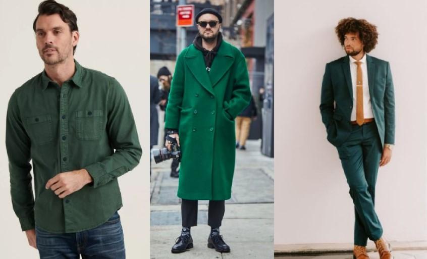 αντρικά ντυσίματα σε πράσινο χρώμα