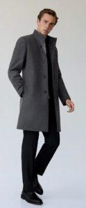 αντρικό παλτό με όμορφο γιακά