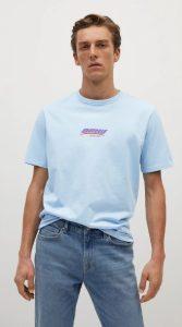 γαλάζια αντρική μπλούζα