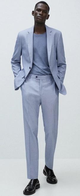 γαλάζιο φαρδύ ανδρικό σακάκι