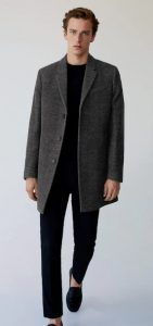 γκρι αντρικό παλτό