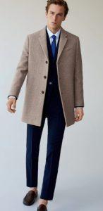 γκρι μπεζ αντρικό παλτό