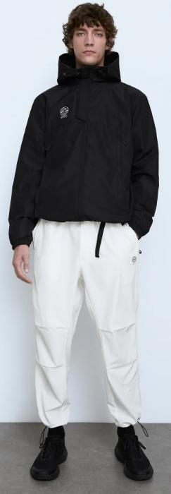 λευκό ανδρικό παντελόνι με λάστιχο στα μπατζάκια