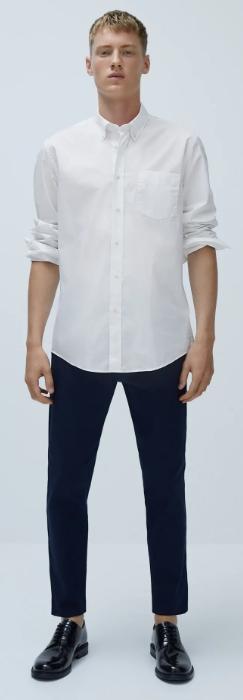 λευκό βαμβακερό πουκάμισο the-man.gr