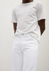 λευκό αντρικό παντελόνι τζιν