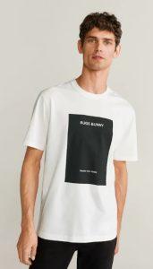 λευκό αντρικό μπλουζάκι με στάμπα