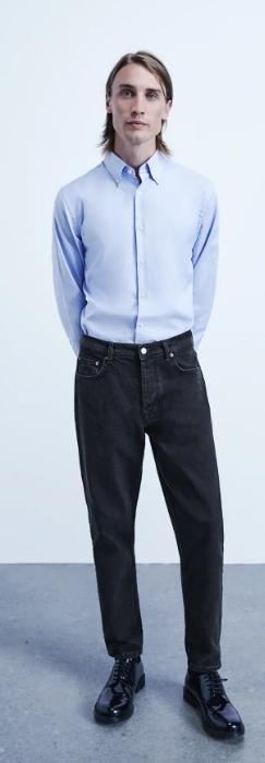 μαύρο φαρδύ ανδρικό jean