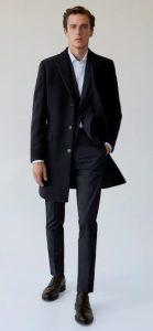 μαύρο αντρικό κλασσικό παλτό