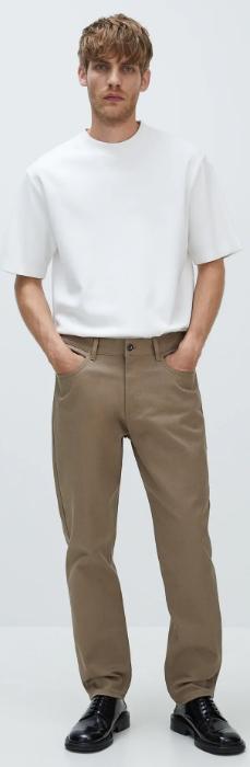 μπεζ ελαστικό ανδρικό παντελόνι