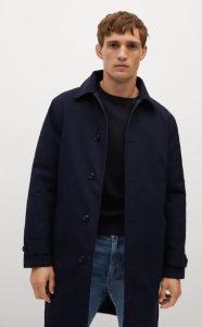 μπλε αντρικό παλτό