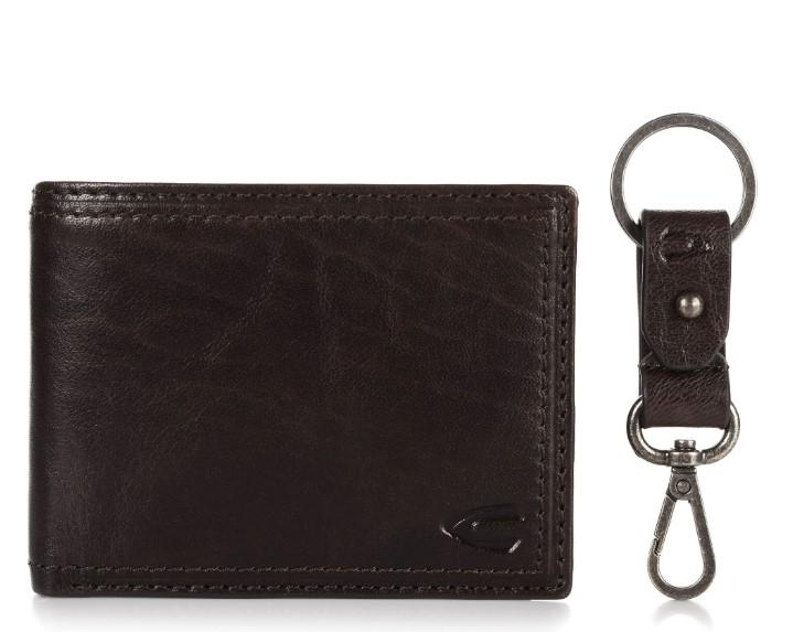 σκούρο καφέ αντρικό πορτοφόλι