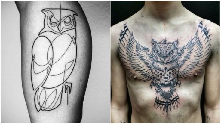 τατουάζ κουκουβάγιες