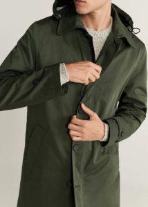 χακί παλτό αντρικό